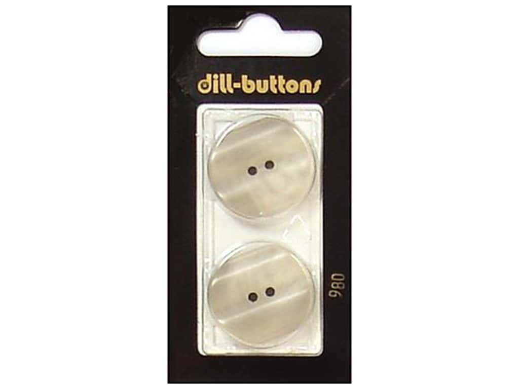 Dill 2 Hole Buttons 1 in. Beige #980 2 pc.