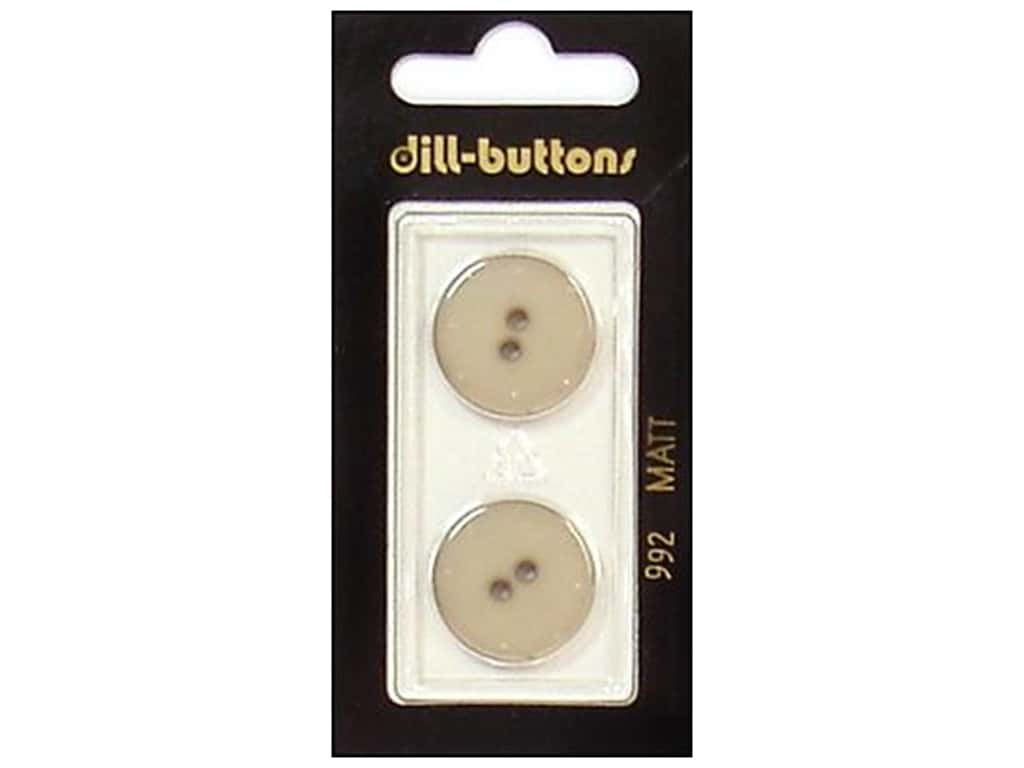 Dill 2 Hole Buttons 13/16 in. Beige #992 2 pc.