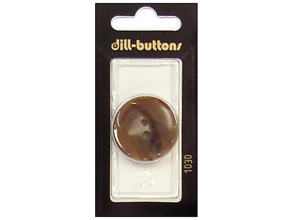 Dill 4 Hole Buttons 1 1/8 in. Brown #1030 1 pc.