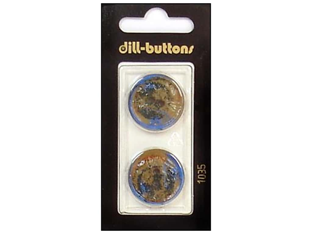 Dill 2 Hole Buttons 7/8 in. Brown #1035 2 pc.