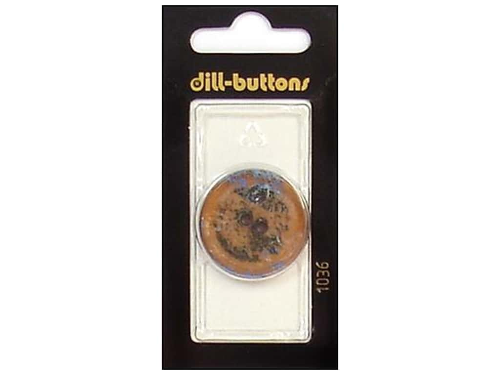 Dill 2 Hole Buttons 1 1/8 in. Brown #1036 1 pc.