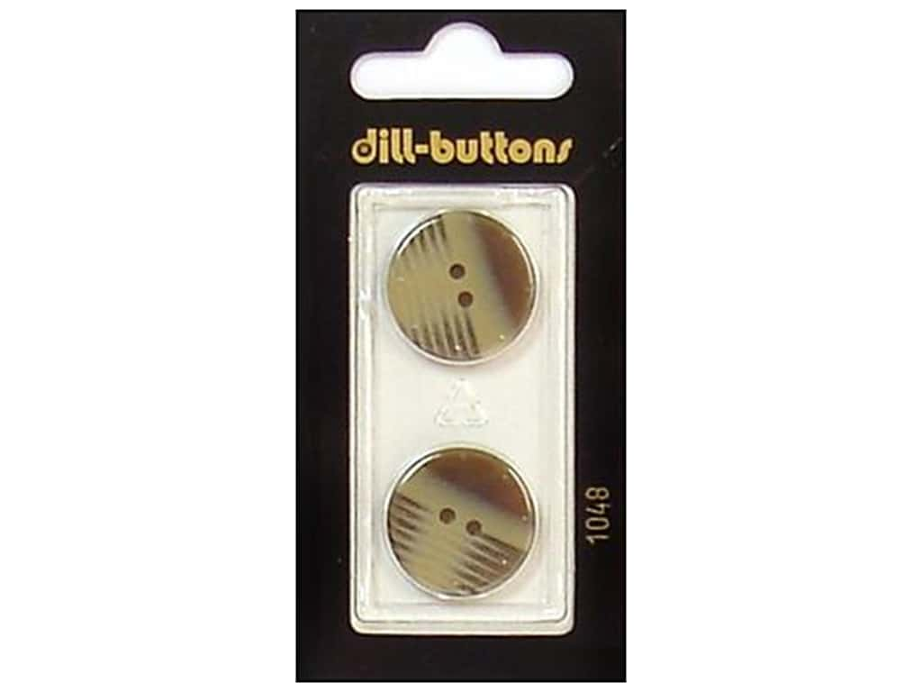 Dill 2 Hole Buttons 13/16 in. Brown #1048 2 pc.