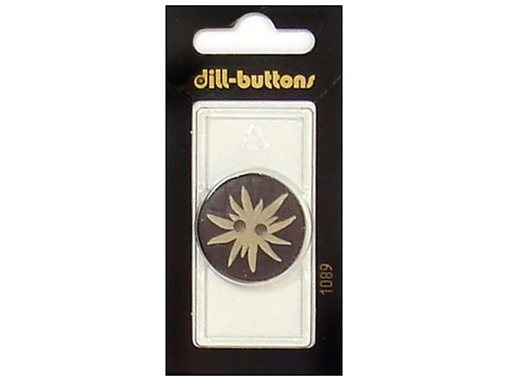 Dill 2 Hole Buttons 1 1/8 in. Brown #1089 1 pc.