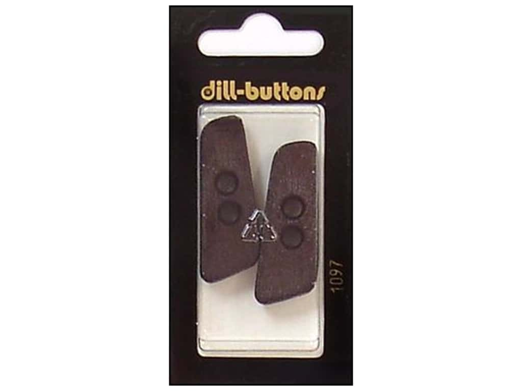 Dill 2 Hole Buttons 1 9/16 in. Brown #1097 2 pc.