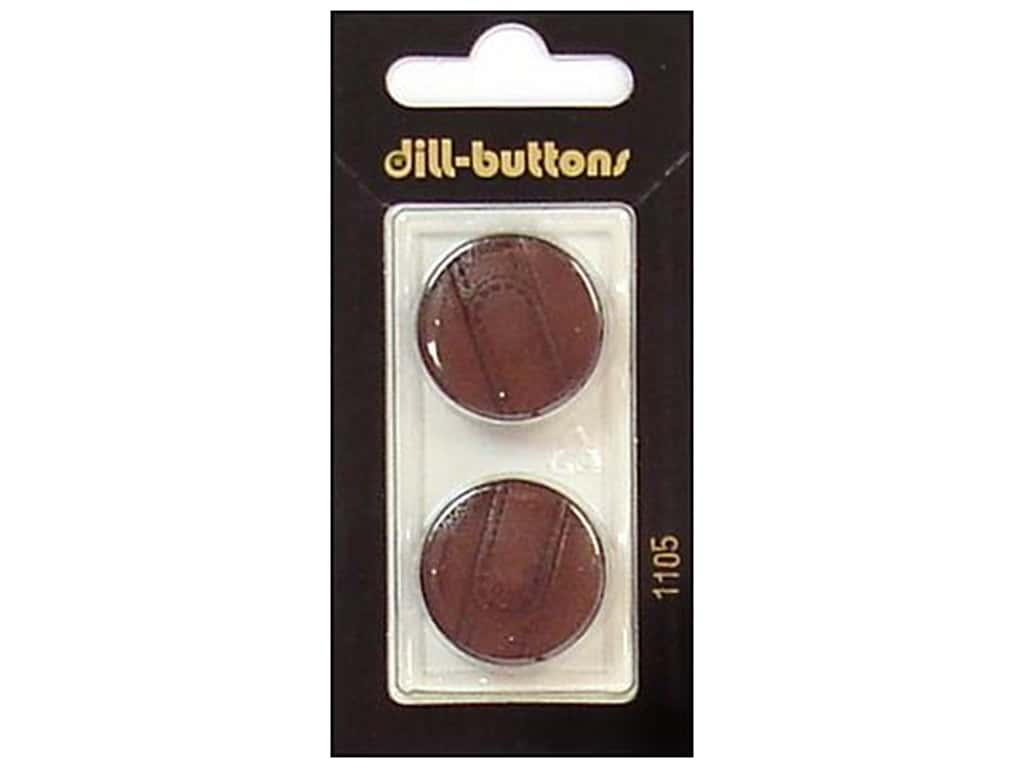 Dill Shank Buttons 7/8 in. Brown #1105 2 pc.