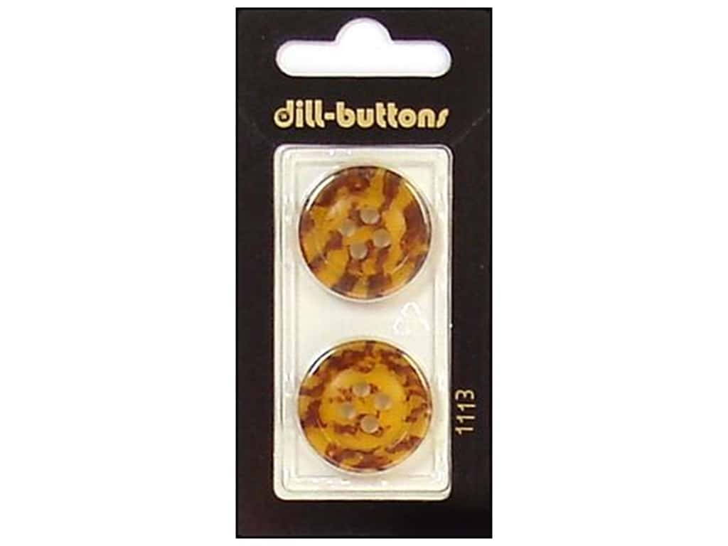 Dill 4 Hole Buttons 7/8 in. Brown #1113 2 pc.