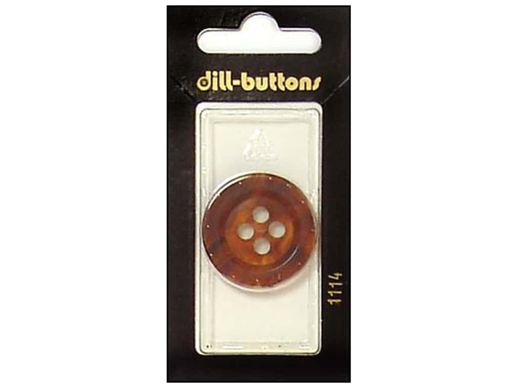 Dill 4 Hole Buttons 1 1/8 in. Brown #1114 1 pc.