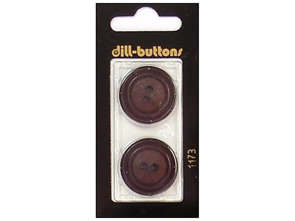 Dill 2 Hole Buttons 1 in. Brown #1173 2 pc.