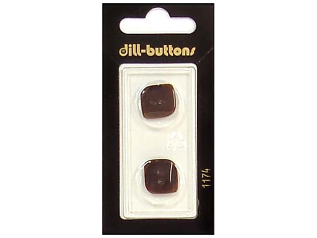 Dill 2 Hole Buttons 11/16 in. Brown #1174 2 pc.