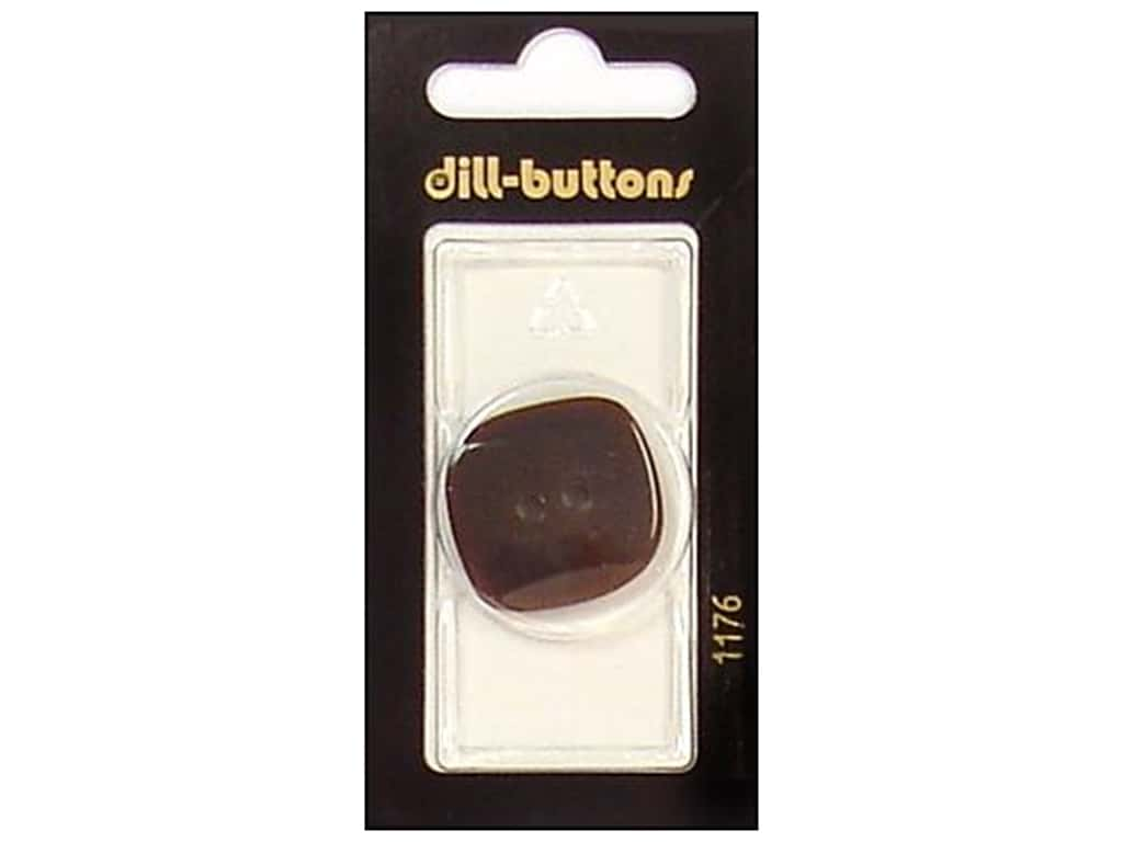 Dill 2 Hole Buttons 1 1/8 in. Brown #1176 1 pc.