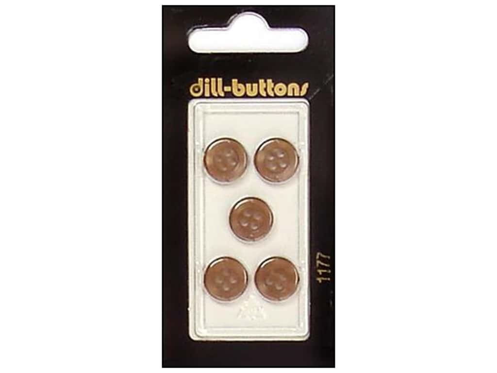 Dill 4 Hole Buttons 7/16 in. Brown #1177 5 pc.