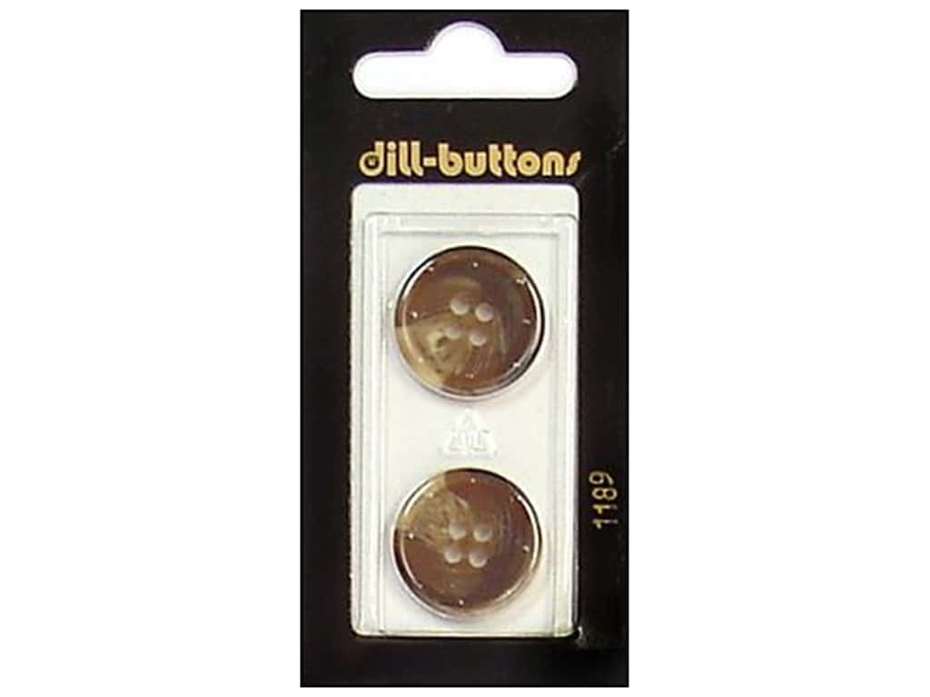 Dill 4 Hole Buttons 13/16 in. Brown #1189 2 pc.