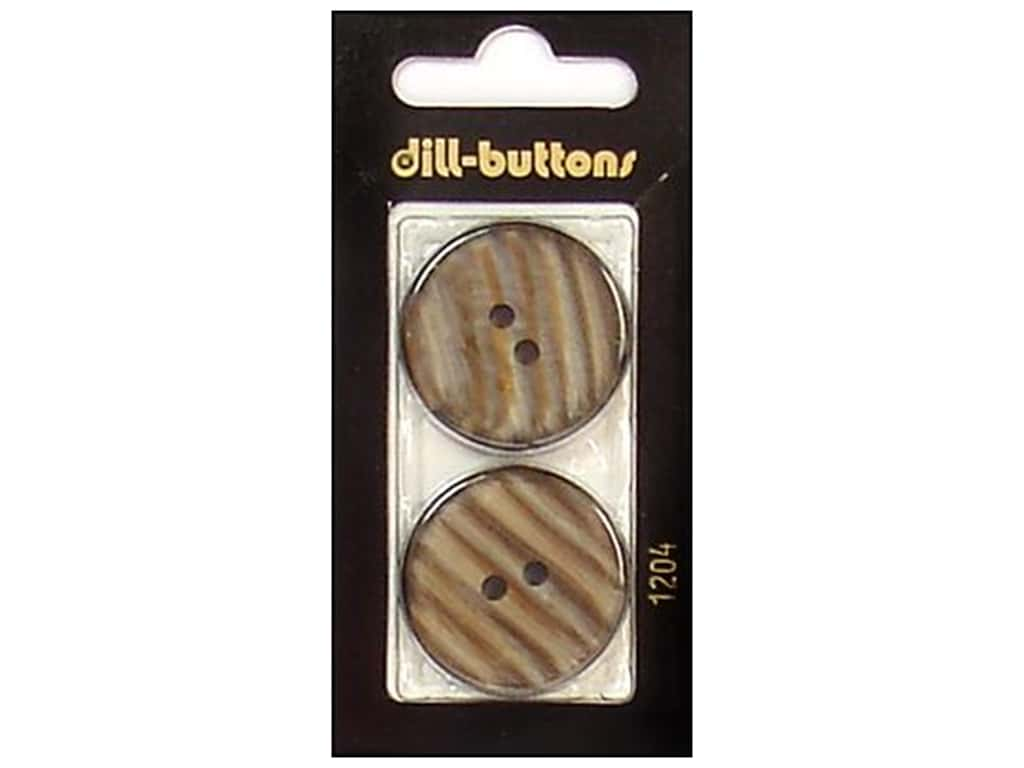 Dill 2 Hole Buttons 1 1/8 in. Brown #1204 2 pc.