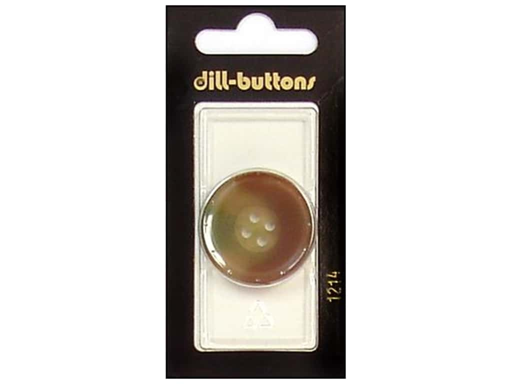 Dill 4 Hole Buttons 1 1/8 in. Brown #1214 1 pc.