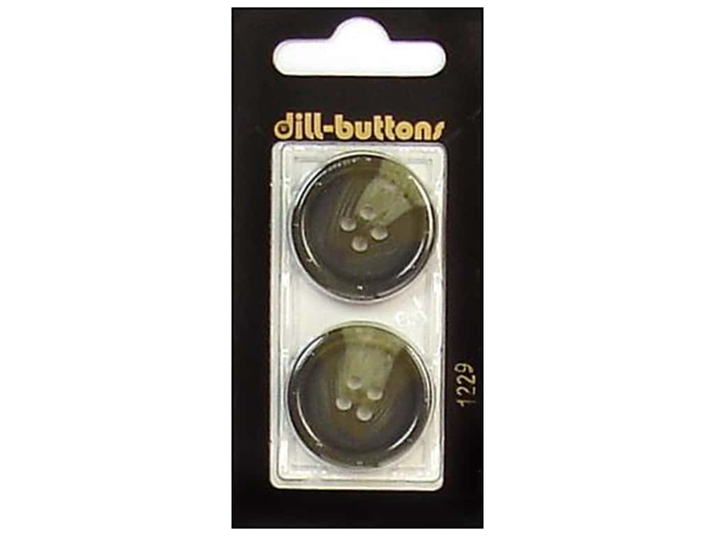 Dill 4 Hole Buttons 1 in. Olive #1229 2 pc.