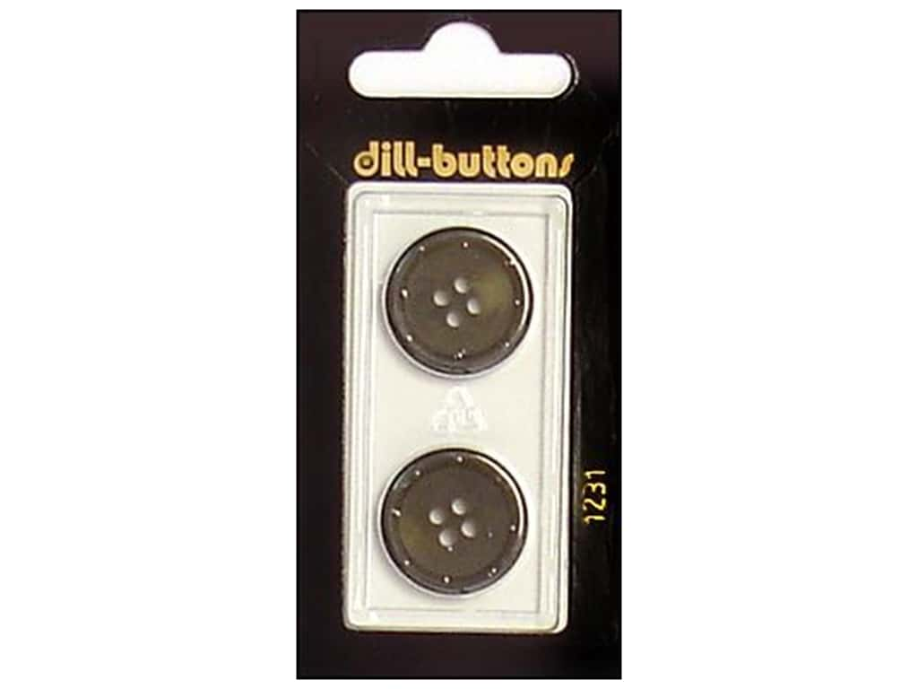 Dill 4 Hole Buttons 13/16 in. Olive #1231 2 pc.
