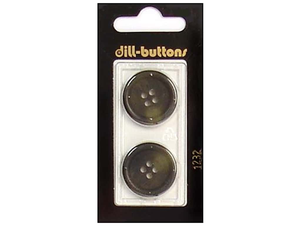 Dill 4 Hole Buttons 7/8 in. Olive #1232 2 pc.