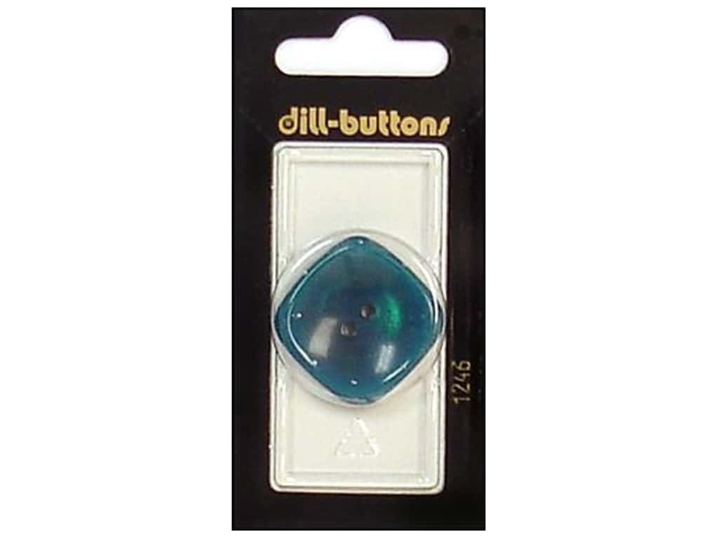 Dill 2 Hole Buttons 1 1/4 in. Teal #1246 1 pc.