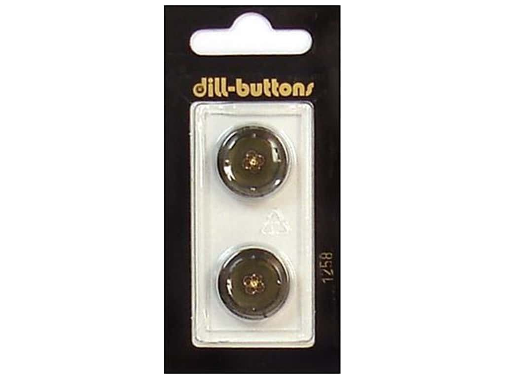 Dill Shank Buttons 11/16 in. Olive/Gold #1258 2 pc.