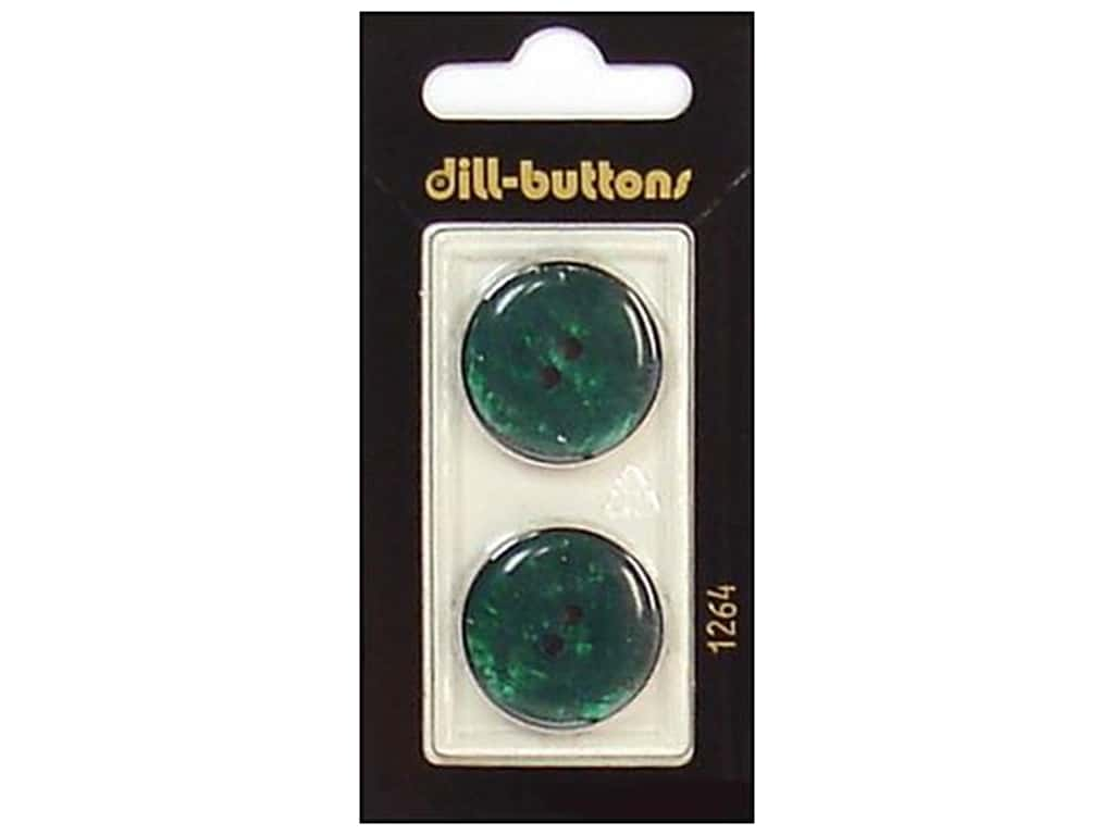 Dill 2 Hole Buttons 7/8 in. Dark Green #1264 2 pc.
