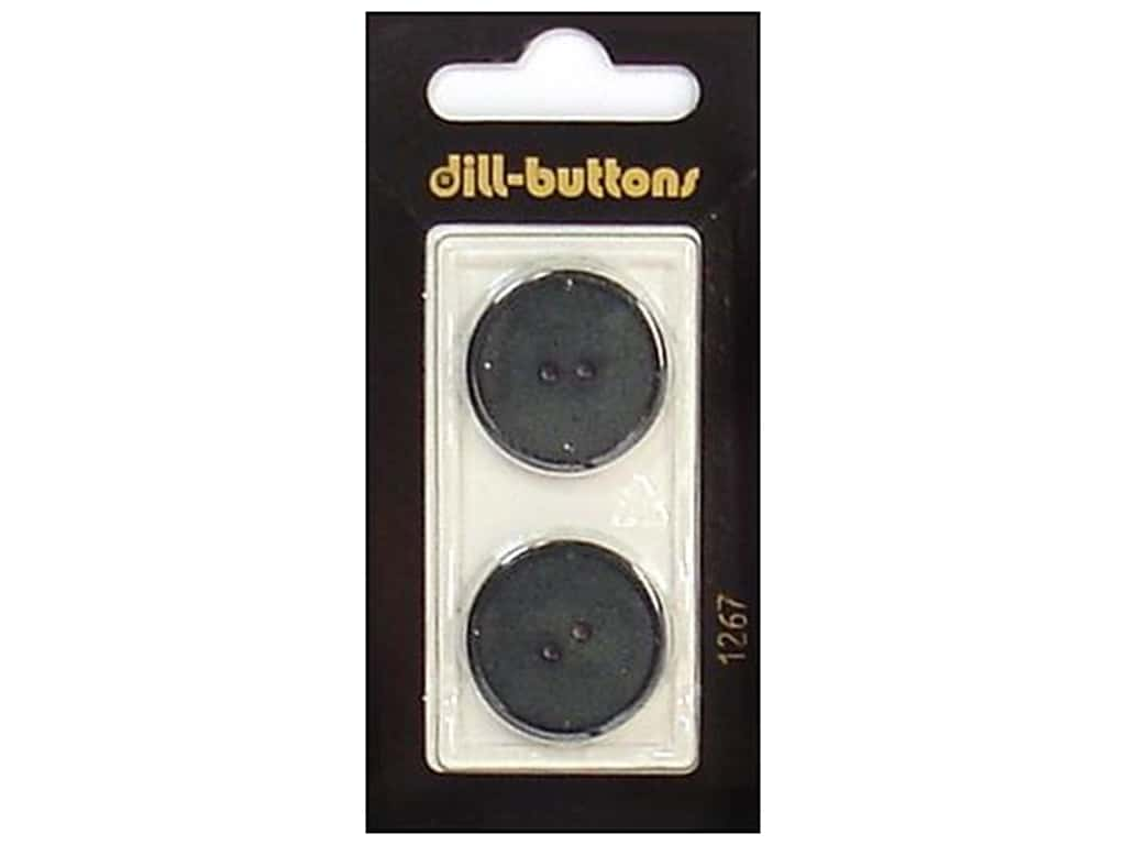 Dill 2 Hole Buttons 7/8 in. Dark Green #1267 2 pc.