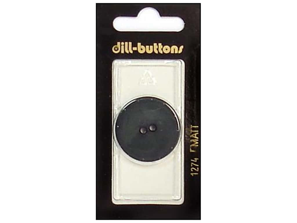 Dill 2 Hole Buttons 1 1/8 in. Dark Green #1274 1 pc.