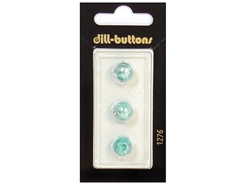 Dill Shank Buttons 3/8 in. Pearlized Turquoise #1276 3 pc.
