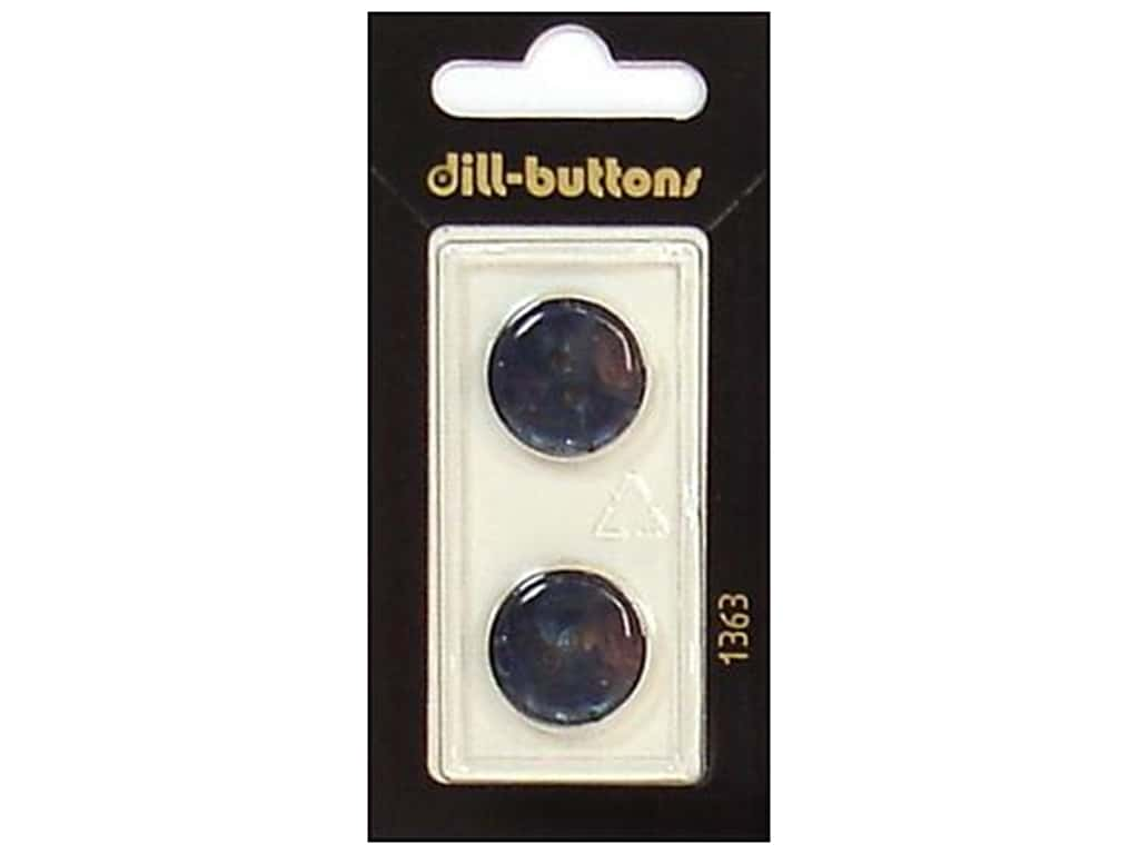 Dill 2 Hole Buttons 11/16 in. Navy #1363 2 pc.
