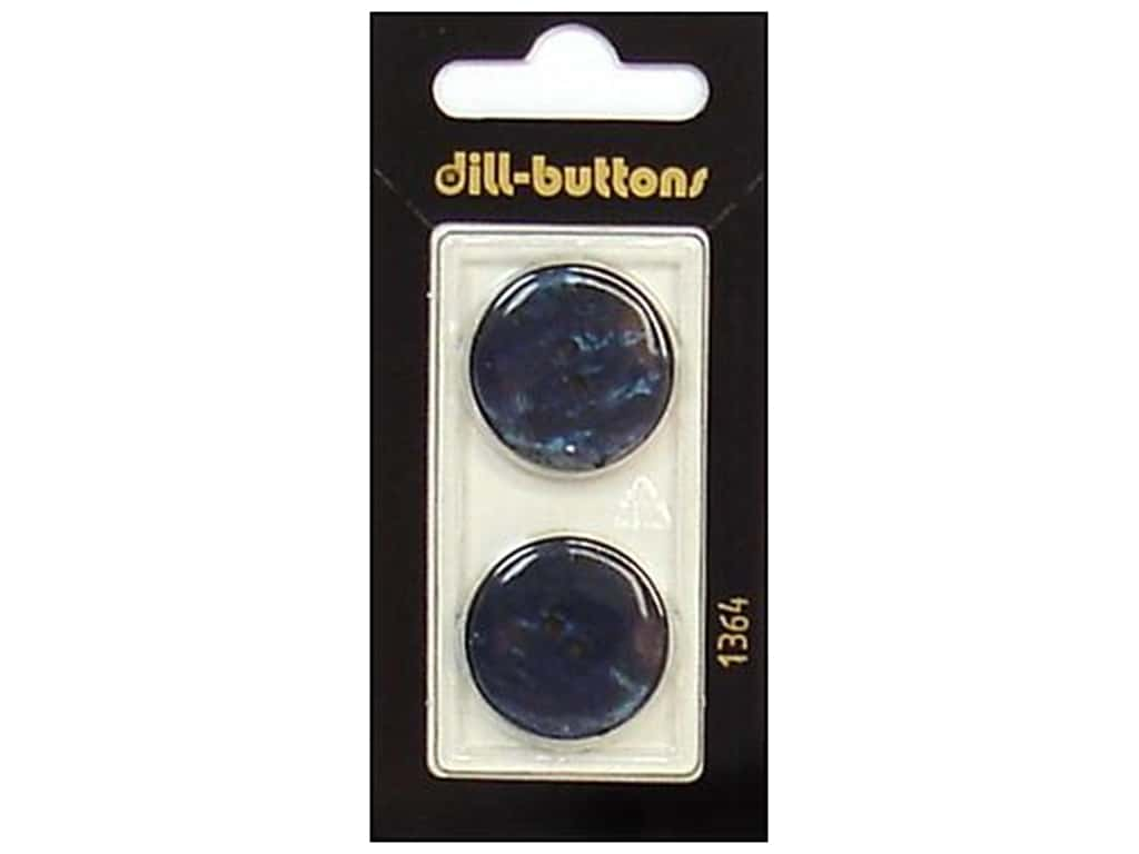 Dill 2 Hole Buttons 7/8 in. Navy #1364 2 pc.