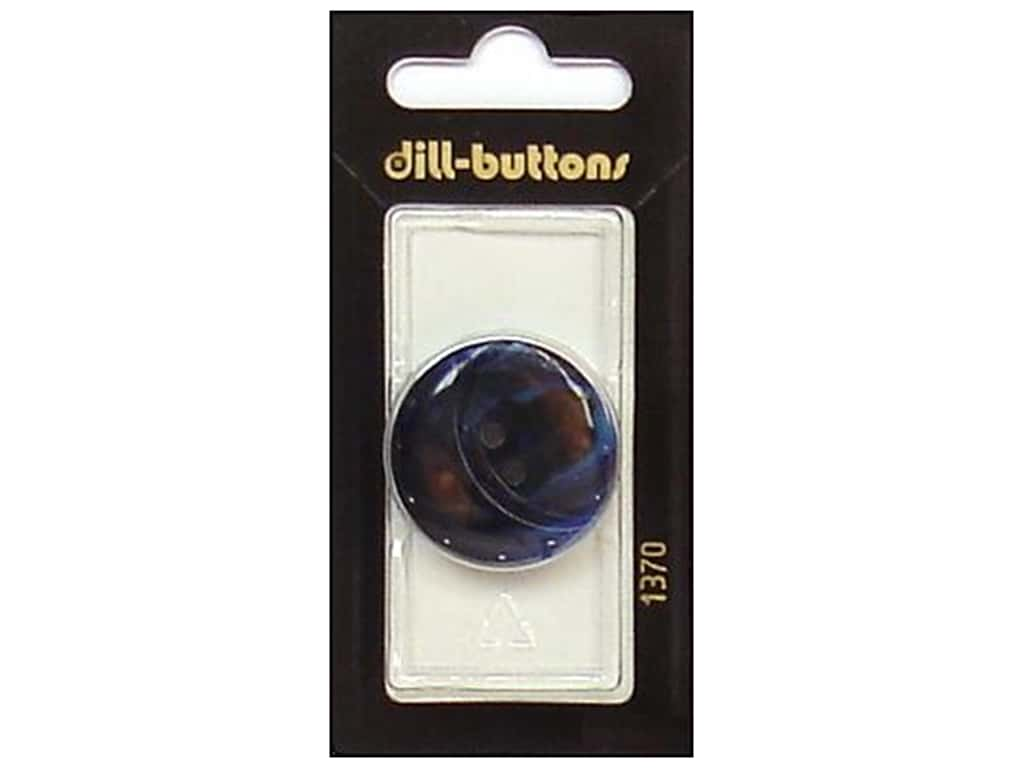 Dill 2 Hole Buttons 1 1/8 in. Navy #1370 1 pc.