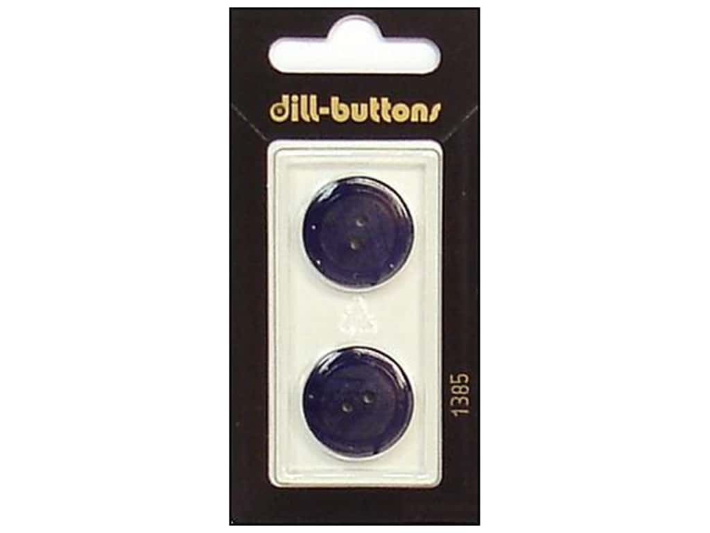 Dill 2 Hole Buttons 13/16 in. Navy #1385 2 pc.