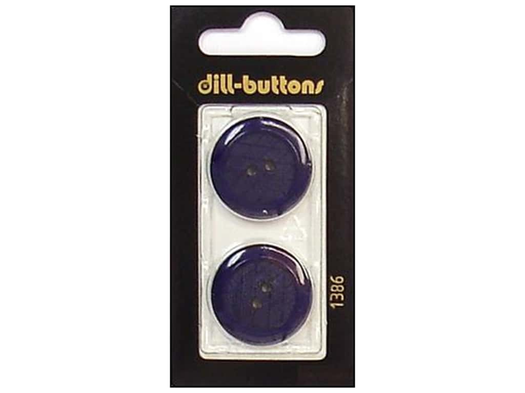 Dill 2 Hole Buttons 1 in. Navy #1386 2 pc.