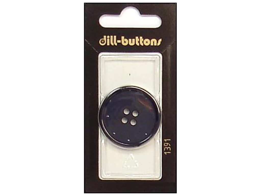 Dill 4 Hole Buttons 1 1/4 in. Navy #1391 1 pc.