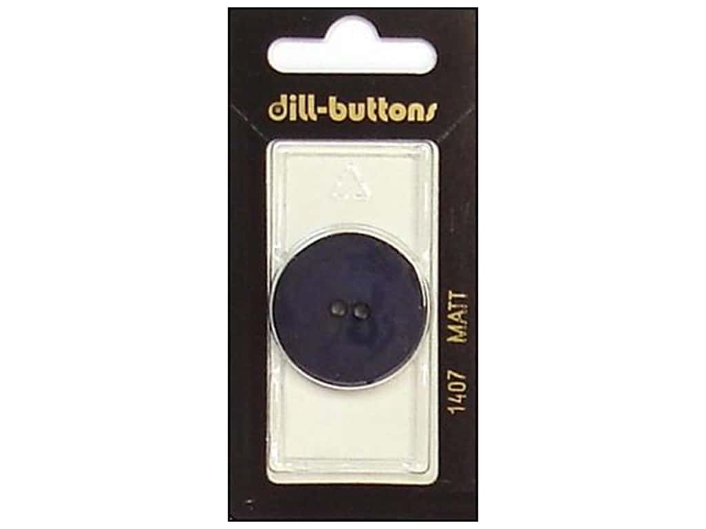 Dill 2 Hole Buttons 1 1/8 in. Navy #1407 1 pc.