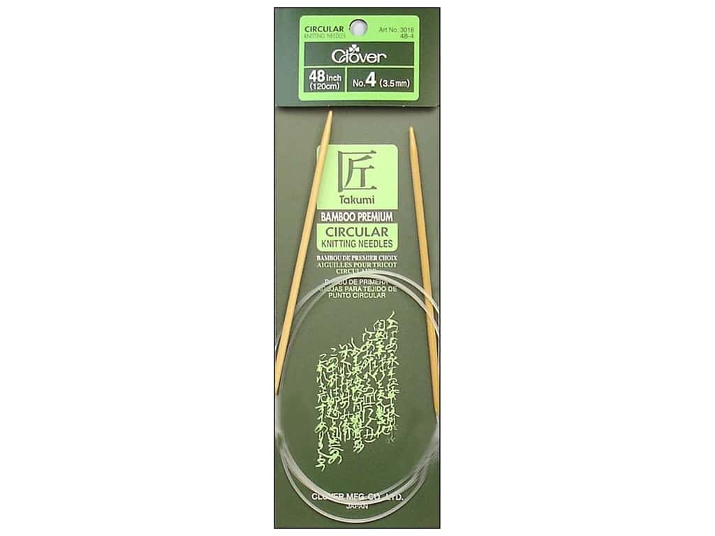 Clover Bamboo Circular Knitting Needles 48 in. Size 4 (3.5 mm)