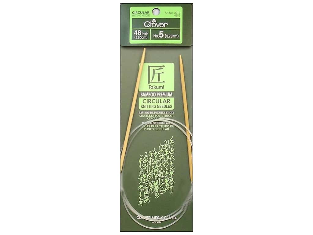 Clover Bamboo Circular Knitting Needles 48 in. Size 5 (3.75 mm)