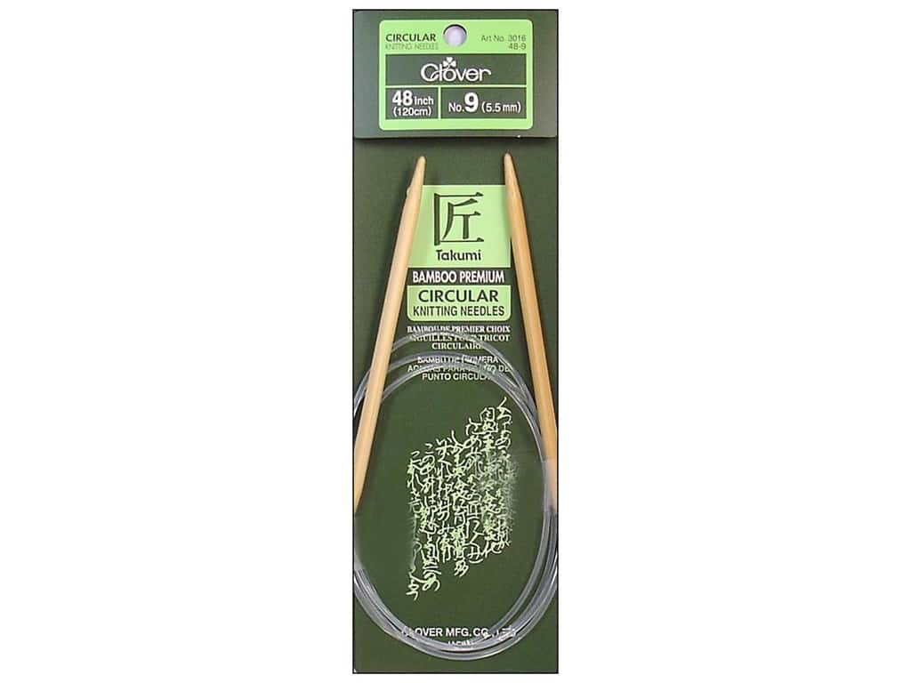 Clover Bamboo Circular Knitting Needles 48 in. Size 9 (5.5 mm)