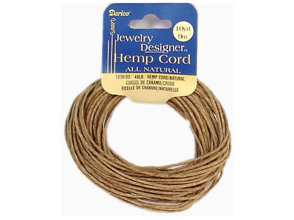Darice Hemp Cord 48 lb. Natural 10 yd.