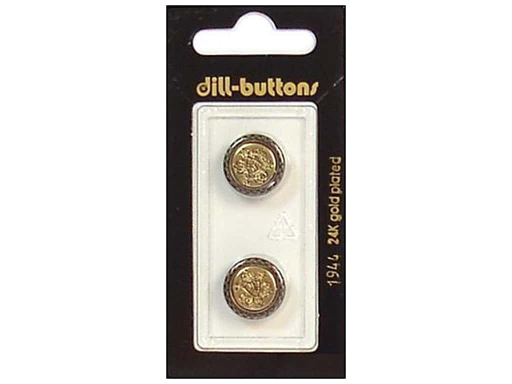 Dill Shank Buttons 5/8 in. Antique Gold #1944 2 pc.
