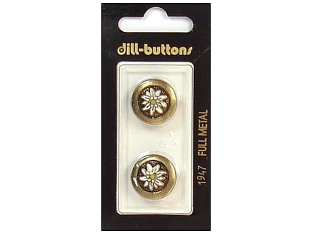Dill Shank Buttons 11/16 in. Antique Gold #1947 2 pc.