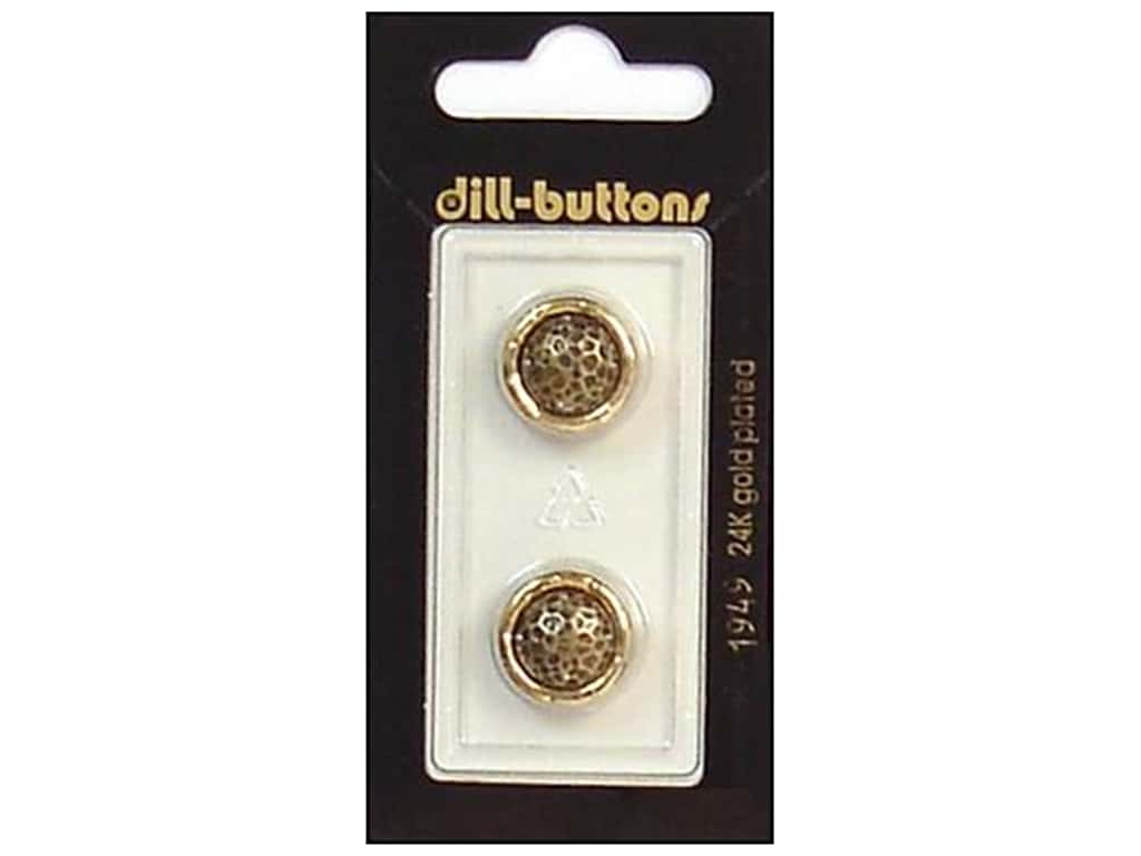 Dill Shank Buttons 5/8 in. Antique Gold #1949 2 pc.