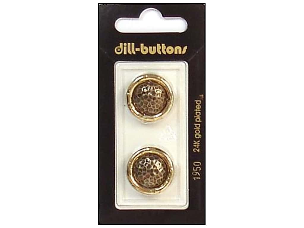Dill Shank Buttons 13/16 in. Antique Gold #1950 2 pc.
