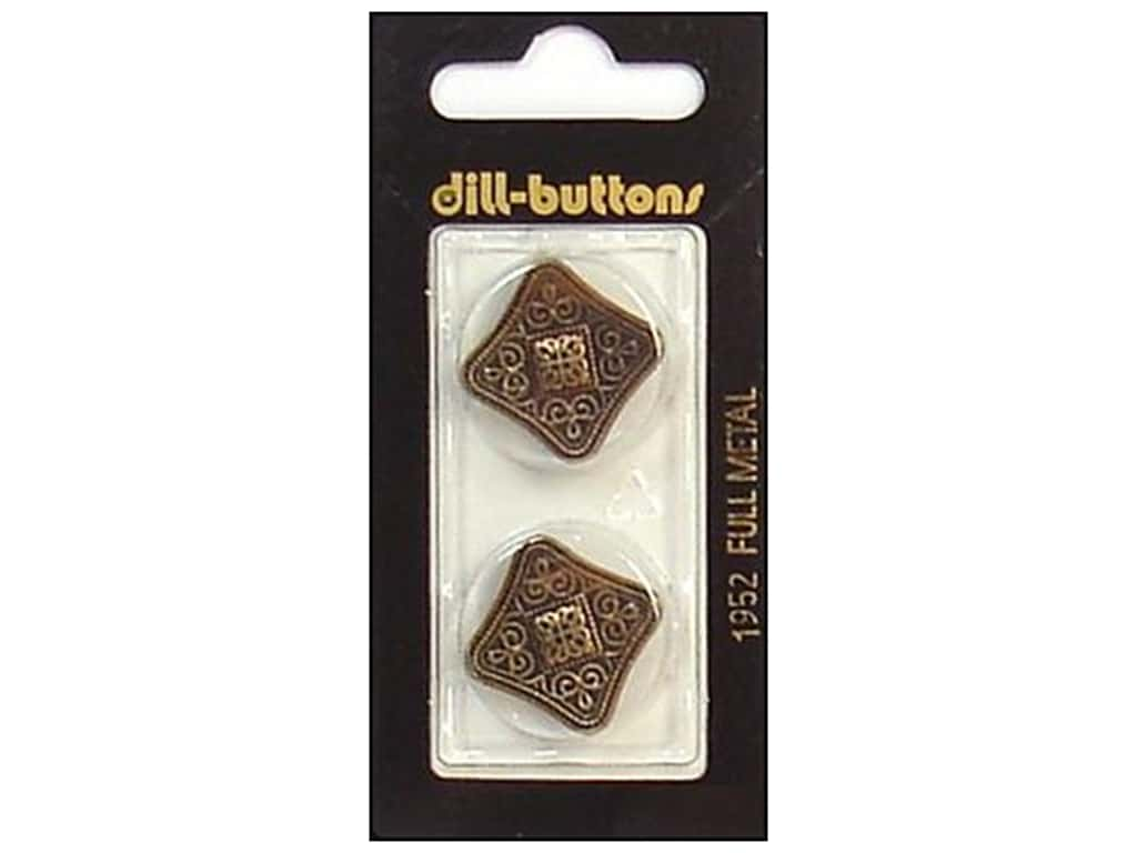 Dill Shank Buttons 7/8 in. Antique Brass Metal #1952 2 pc.