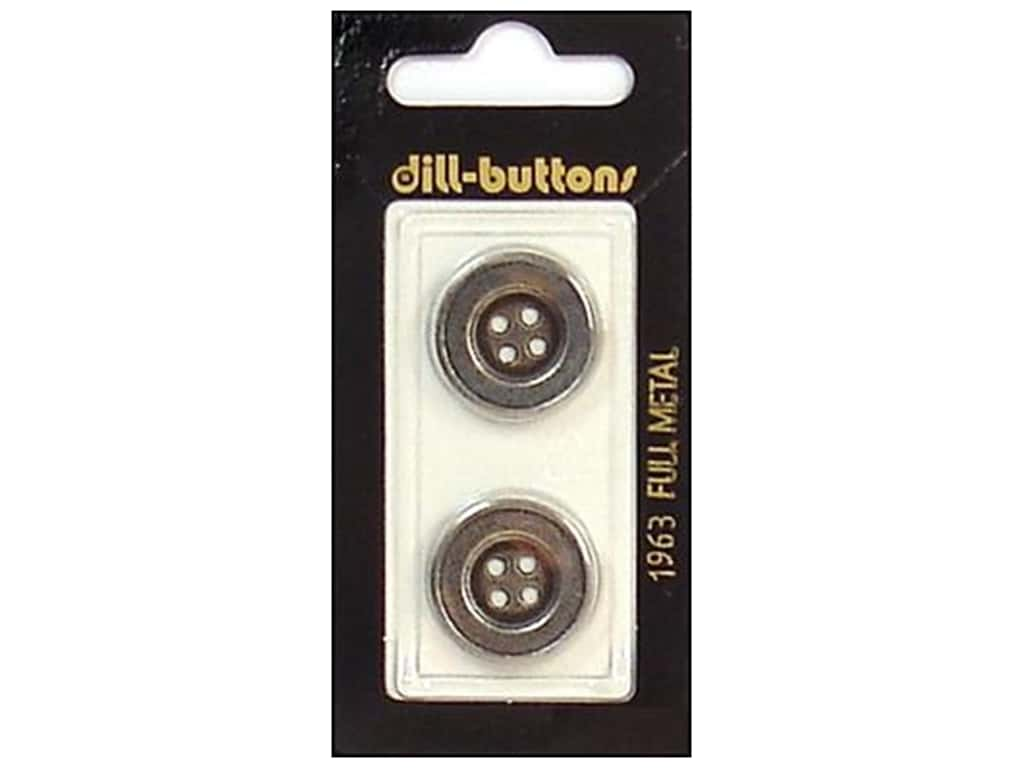 Dill 4 Hole Buttons 13/16 in. Antique Silver Metal #1963 2 pc.