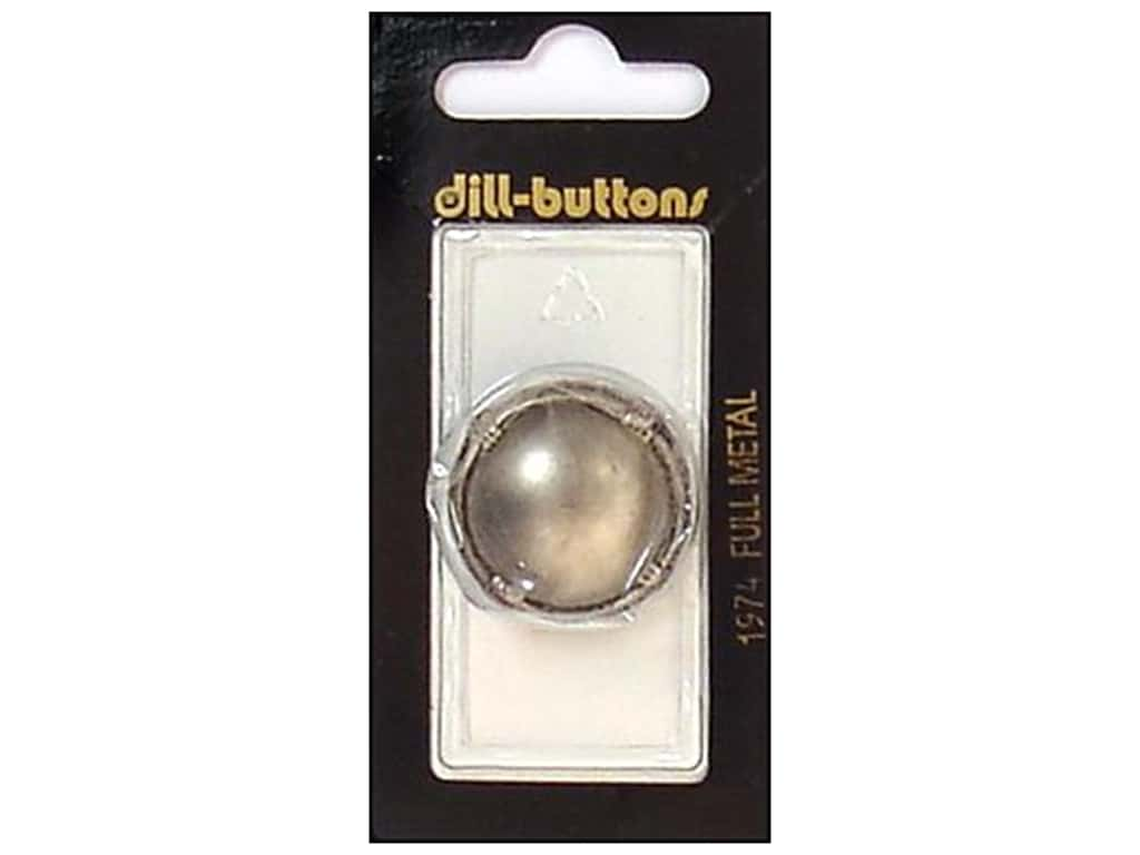 Dill Shank Buttons 1 1/8 in. Matte Silver Metal #1974 1 pc.
