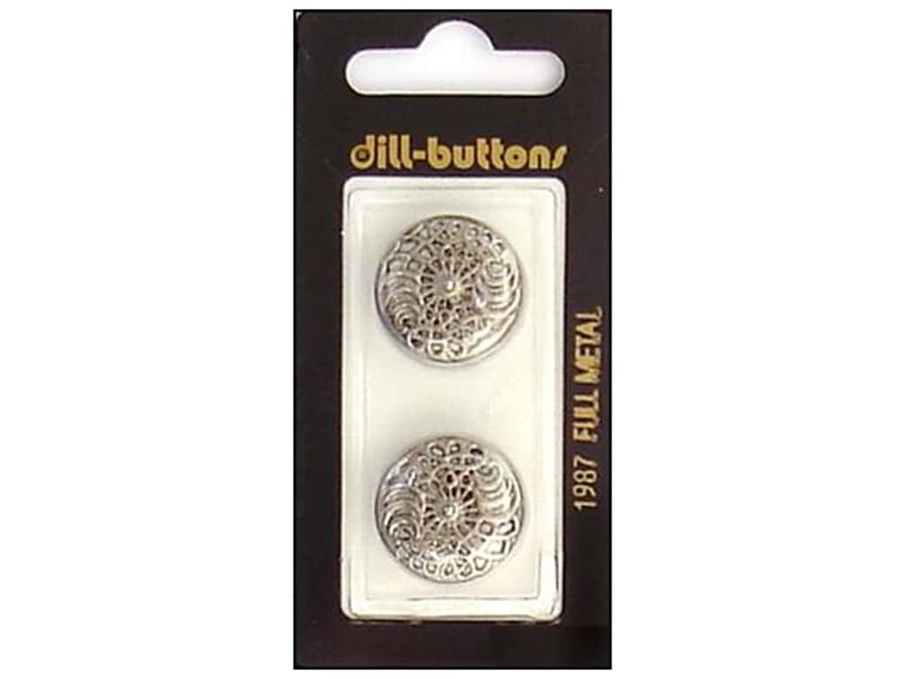 Dill Shank Buttons 13/16 in. Antique Silver Metal #1987 2 pc.