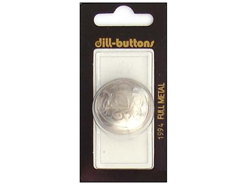 Dill Shank Buttons 1 1/4 in. Matte Silver Metal #1994 1 pc.