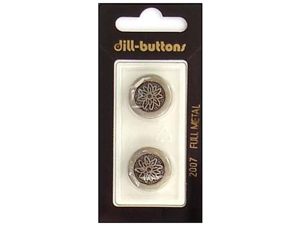 Dill Shank Buttons 11/16 in. Antique Tin Metal #2007 2 pc.