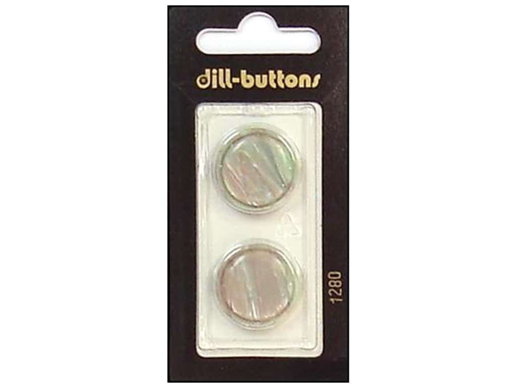 Dill Shank Buttons 13/16 in. Grey/Green #1280 2 pc.