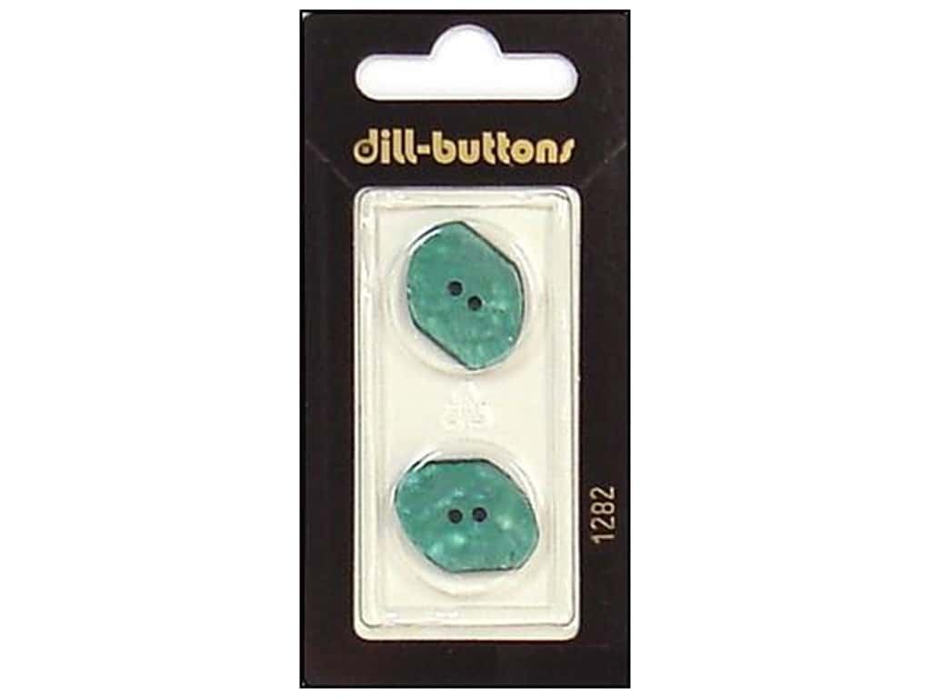 Dill 2 Hole Buttons 13/16 in. Teal #1282 2 pc.